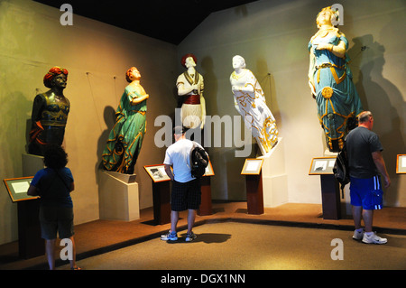 Museum of ship figureheads at Mystic Seaport, Connecticut, USA - Stock Image