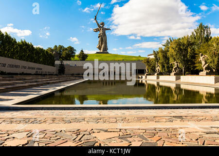 Motherland monument in Stalingrad,statue of mother homeland - Stock Image