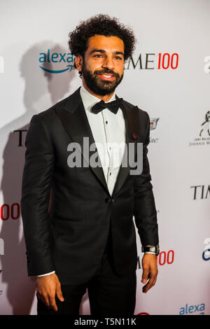 Mohamed Salah attends TIME 100 GALA on April 23 in New York City - Stock Image