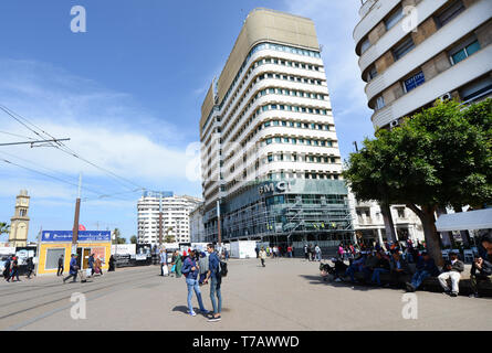 The United Nations Square in Casablanca. - Stock Image