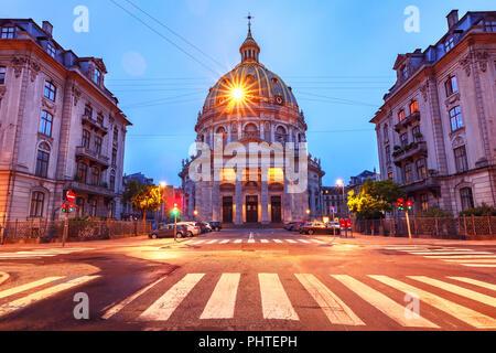 Marble Church in Copenhagen, Denmark. - Stock Image