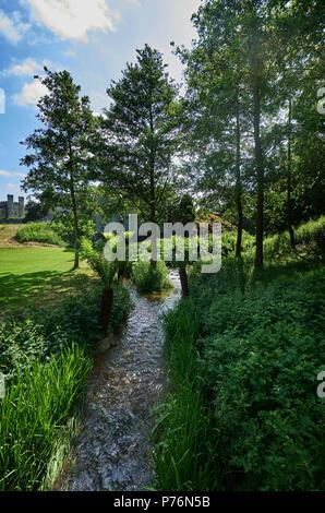 river leeds castle england - Stock Image