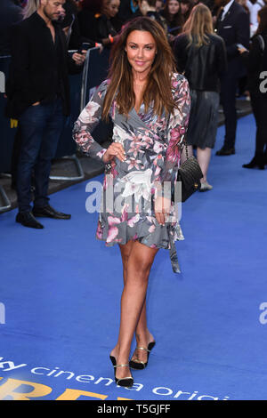 London, UK. 24th Apr, 2019. LONDON, UK. April 24, 2019: Michelle Heaton arriving for the 'Extremely Wicked, Shockingly Evil And Vile' premiere at the Curzon Mayfair, London. Picture: Steve Vas/Featureflash Credit: Paul Smith/Alamy Live News - Stock Image