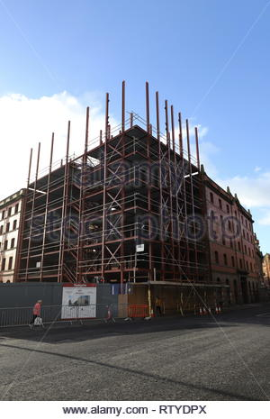 Affordable housing construction site Trades Lane Dundee Scotland  18th February 2019 - Stock Image