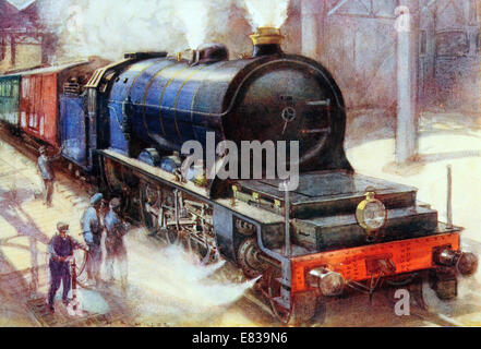 The Belgian Flamme Pacific. The most Powerful Locomotive in Europe circa 1913 - Stock Image