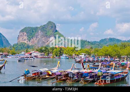 Klong Heng pier, Noppharat Thara port, Hat Noppharat Thara, Krabi province, Thailand - Stock Image