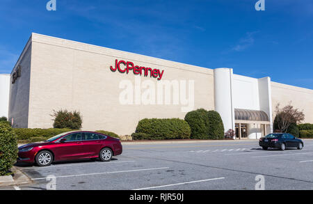 HICKORY, NC, USA-2/5/19: A JCPenny store in Valley Hills Mall. - Stock Image