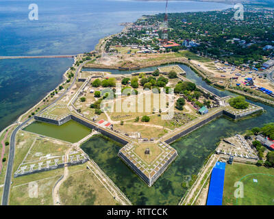 Jaffna Fort, built by the Portuguese near Karaiyur at Jaffna, Sri Lanka in 1618 under Phillippe de Oliveira following the Portuguese invasion of Jaffn - Stock Image
