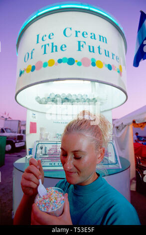 Florida Youth Fair & Exposition Tamiami Park carnival midway - Stock Image