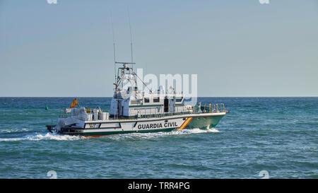 Guardia Civil Patrol boat Rio Ter M43. Benalmádena Costa, Málaga province, Spain. - Stock Image