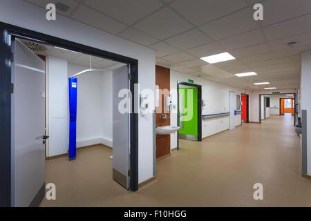 new hospital corridor without people - Stock Image