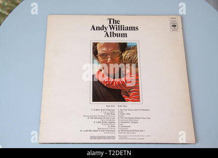 Cover of the 1972 Andy Williams Album - Stock Image