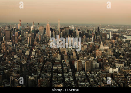Scenic cityscape view, New York City, New York, USA - Stock Image