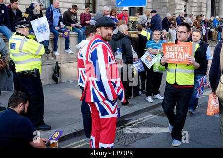 Pro brexit protest in central London - Stock Image