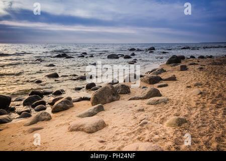 Rocky Baltic sea - Stock Image