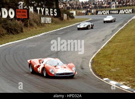 1967 David Piper GB Ferrari 412P 7th BOAC 500 Brands Hatch - Stock Image