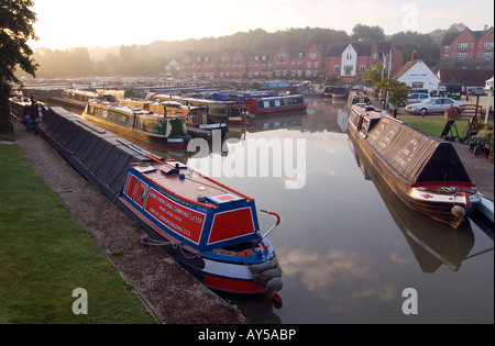 Doug Blane Narrowboats moored at Braunston marina on the Grand Union canal - Stock Image