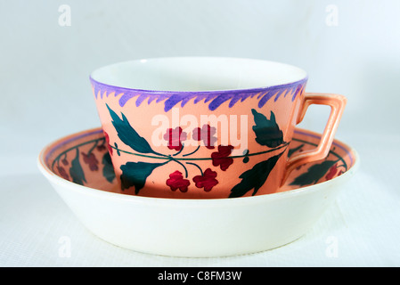 Antique cup in beautiful colours - Stock Image