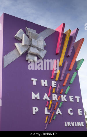 The Market Place in Tustin and Irvine one of the premier shopping malls in Orange County California USA - Stock Image