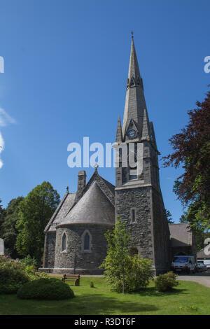 Braemar Church, Aberdeenshire, Scotland, UK, on a Sunny Summers Day - Stock Image