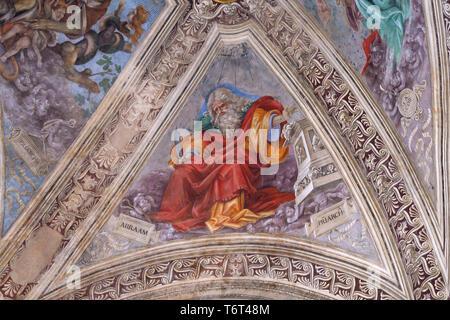 Abraham fresco, Capella Stozzi, Strozzi Chapel, Basilica di Santa Maria Novella, Church of Santa Maria Novella, Florence, Tuscany, Italy, Europe - Stock Image