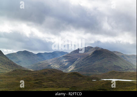 Hills and mountains surrounding, Loch Affric Glen Affric, Highlands, Scotland. - Stock Image
