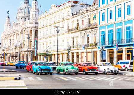 havana cuba car, havana cuba cars, Havana cars, cuba havana cars, Havana, cuba, cuban cars, old havana, Parque central - Stock Image