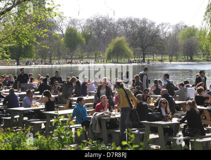 The Serpentine Bar and Kitchen Hyde Park London - Stock Image