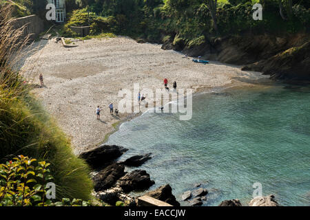 Sunny cove in Combe Martin North Devon - Stock Image