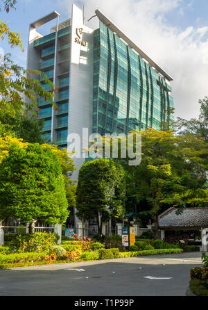 Administration building of Singapore Management University SMU at Bras Basah Rd and Victoria St Singapore. - Stock Image