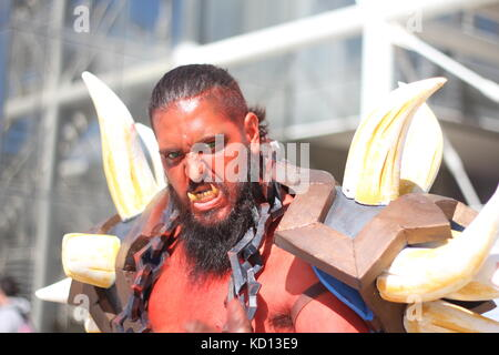 Rome, Italy. 8th October, 2017. The Romics cosplay festival in Rome Italy ©Gari Wyn Williams/Alamy Live News - Stock Image