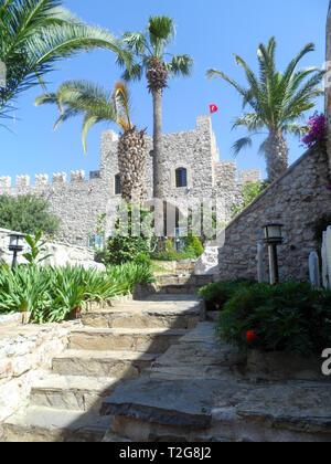 Marmaris Castle and museum, Marmaris, Mugla province, Turkey - Stock Image