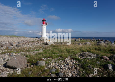 Manija lighthouse in Manija island. Estonia 9th July 2017 - Stock Image