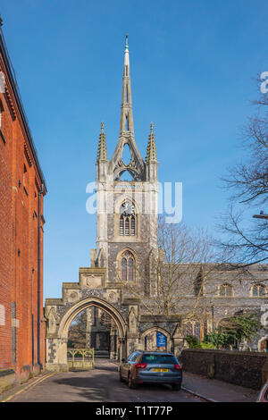 St Mary of Charity is one of the churches in The Benefice of Faversham, Kent - Stock Image