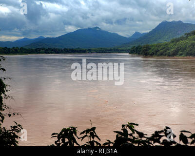 View of Mekong river, Luang Prabang, Laos - Stock Image