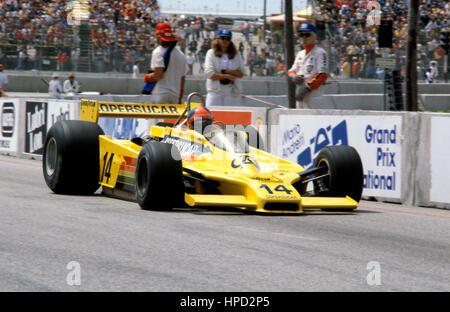 1979 Emmerson Fittipaldi Brazilian Copersucar F5A Long Beach US GP West dnf - Stock Image