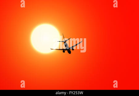 Aircraft in sun - Stock Image