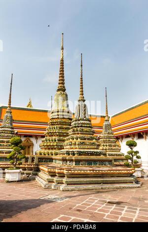 Stupas, Wat Pho, Bangkok, Thailand - Stock Image