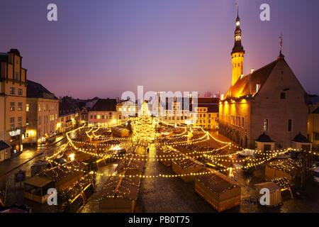 Christmas Market in Tallinn, Estonia - Stock Image