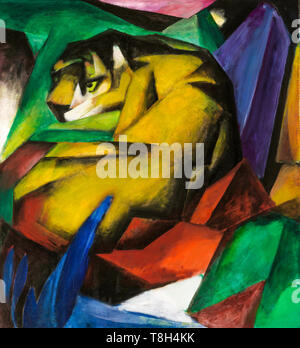 Franz Marc, The Tiger, painting, 1912 - Stock Image