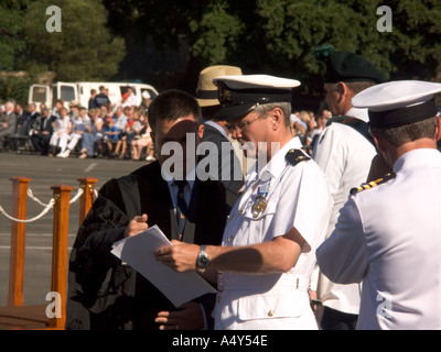 Naval Officers and dignitaries start to assemble at Alameda Grand Parade ground for the Honorary Freedom the City of Gibraltar - Stock Image