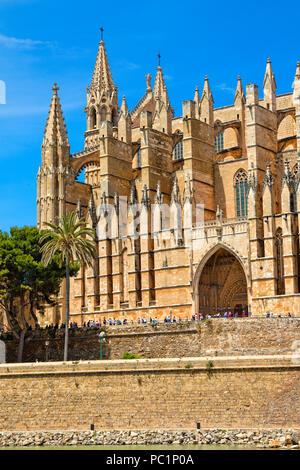 The cathedral (La Seu) of Palma de Mallorca - Stock Image