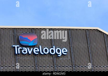 Travelodge logo, uk - Stock Image