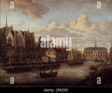 SA 1759 Het Rokin met de Beurs Het Rokin naar het noorden gezien met de Nieuwezijds Kapel en de Beurs na de verbouwing - Stock Image