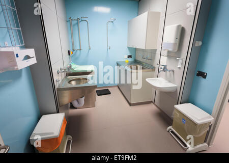 Hospital Dirty Utility room without people - Stock Image