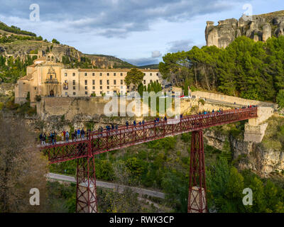 San Pablo Bridge; Cuenca, Cuenca Province, Spain - Stock Image
