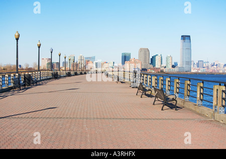 new jersey, jersey city, skyscrapers, financial area, city - Stock Image