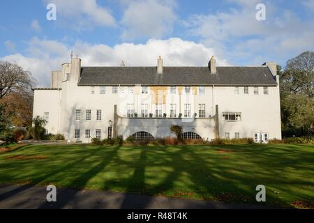 Charles Rennie Mackintosh's inspired House for an Art Lover in Bellahouston Park, Glasgow, Scotland, UK, Europe - Stock Image