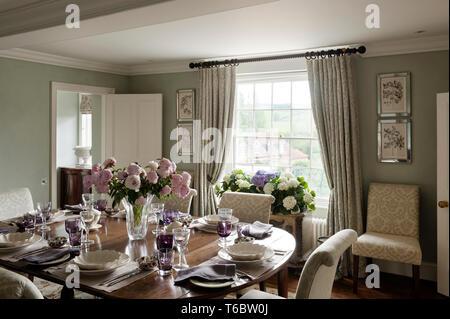 Elegant dining room - Stock Image