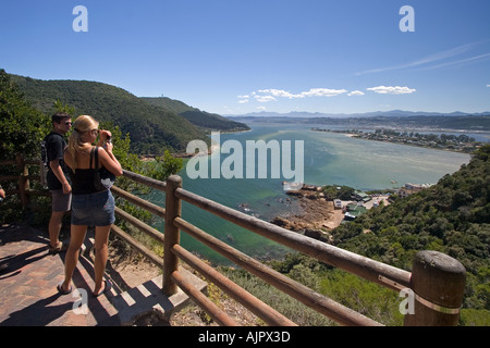 south africa garden route Knysna view point - Stock Image